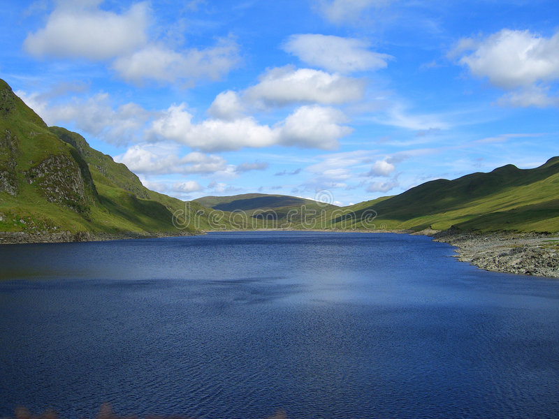Scottish reservoir royalty free stock photo