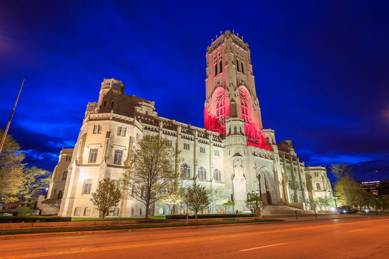 Scottish Rite Cathedral in downtown Indianapolis stock photos