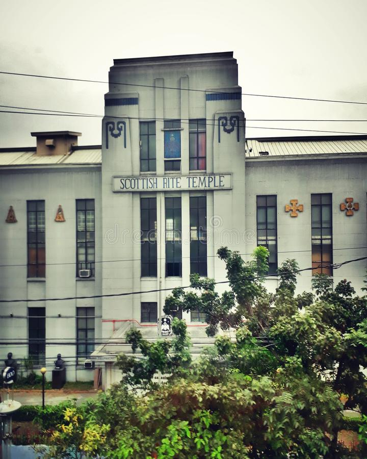 scottish rite temple in manila stock photos