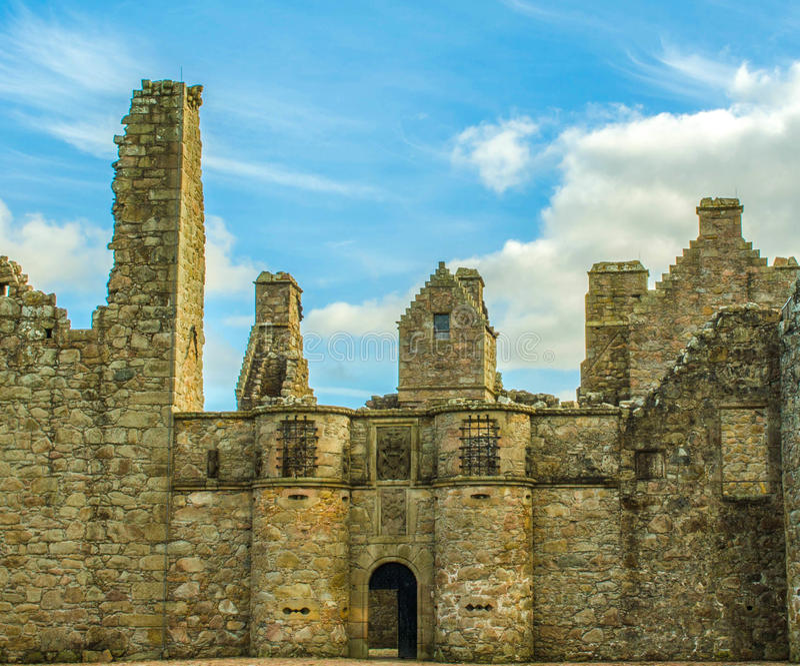 Scottish ruin skyline stock photo