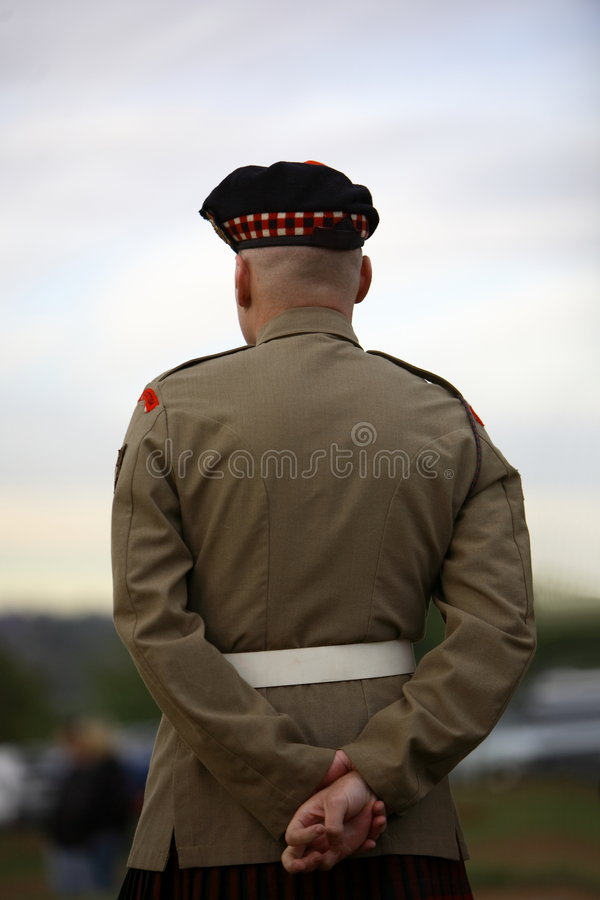 Scottish soldier stock photography
