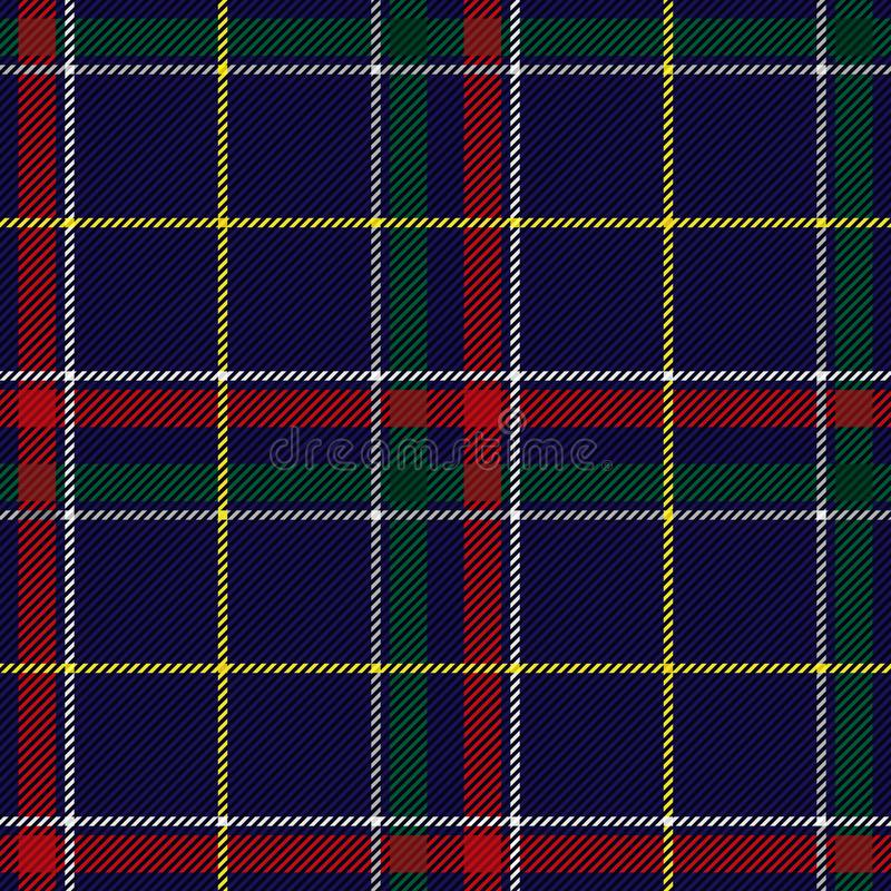 Scottish Tartan Checkered Seamless Pattern. Vector Repeat Background. Check fashion tweed blue, red and green seamless pattern. Tartan repeat element for fashion royalty free illustration