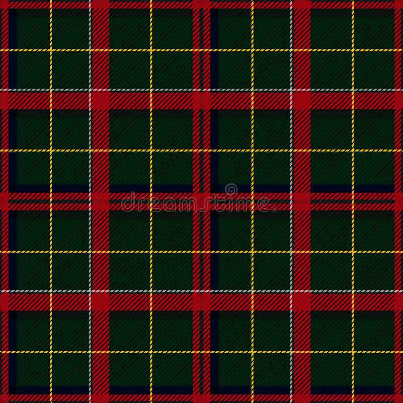 Scottish Tartan Checkered Seamless Pattern. Vector Repeat Background. Check fashion tweed green and red seamless pattern. Tartan repeat element for fashion royalty free illustration