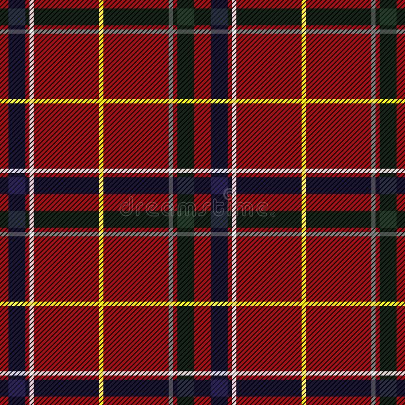 Scottish Tartan Checkered Seamless Pattern. Vector Repeat Background. Check fashion tweed red, blue and green seamless pattern. Tartan repeat element for fashion royalty free illustration
