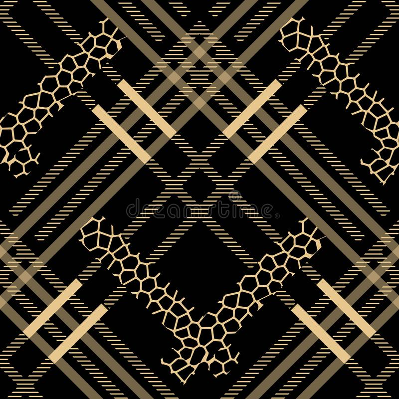 Scottish tartan grunge seamless pattern leopard spots. tartan with leopard style. eps 10. Scottish tartan grunge seamless pattern leopard spots. tartan with royalty free illustration