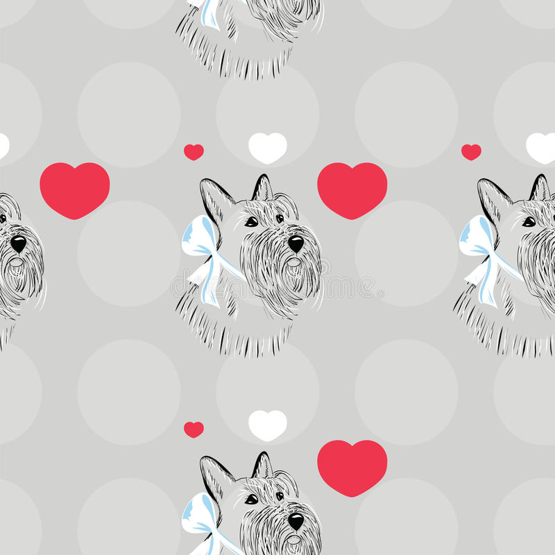 Scottish Terrier dog stock illustration