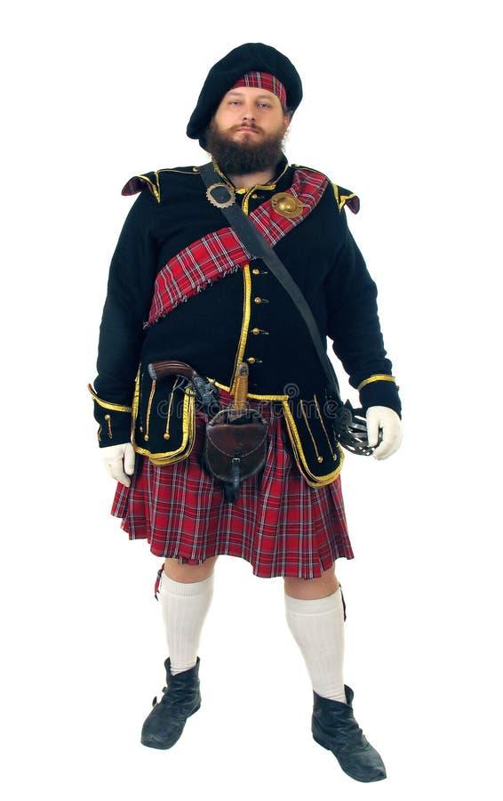 Scottish warrior stock images