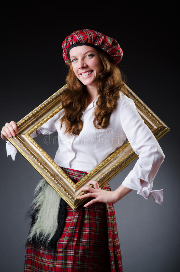 Download Scottish Woman With Frame Royalty Free Stock Photo - Image: 33965095
