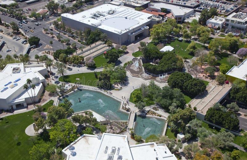 Scottsdale πολιτικό Plaza στοκ εικόνα