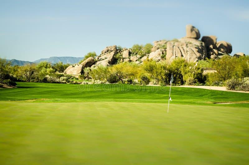 Scottsdale, Arizona, terrain de golf de paysage photos libres de droits
