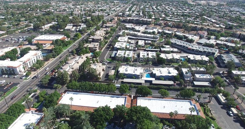 Scottsdale, Arizona, USA - Landscape Aerial shot of a nice Neighborhood on a Sunny Day stock photography
