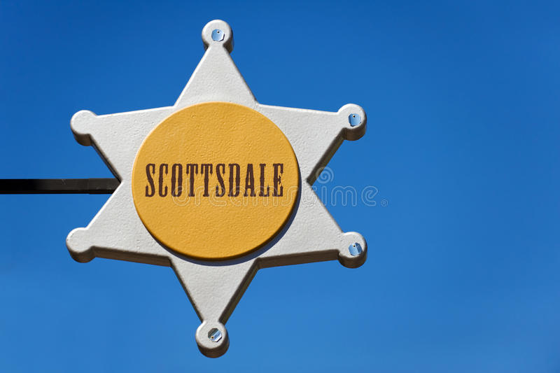 Scottsdale, AZ. City sign in Old Town of Scottsdale, Arizona royalty free stock images