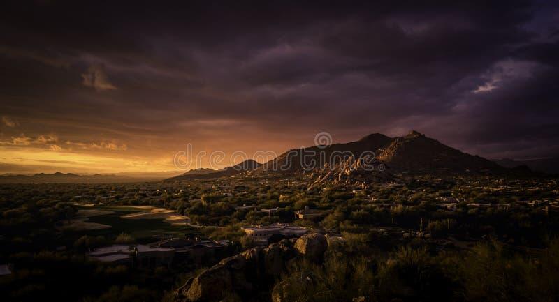 Scottsdale,Cavecreek serene majestic desert visa stock image