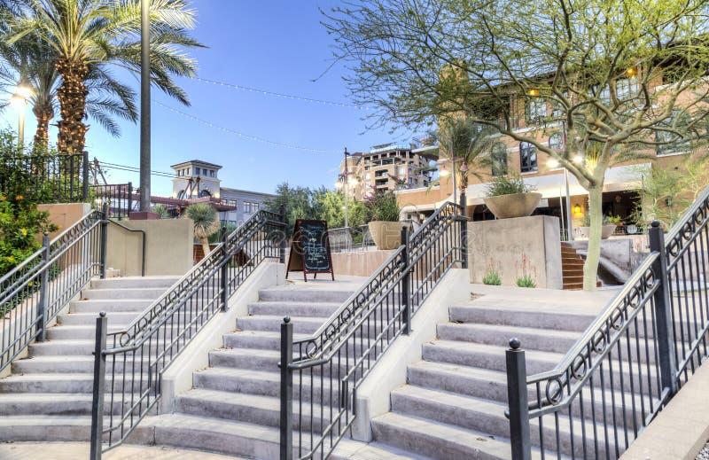 Scottsdale do centro o Arizona no distrito da margem. imagem de stock