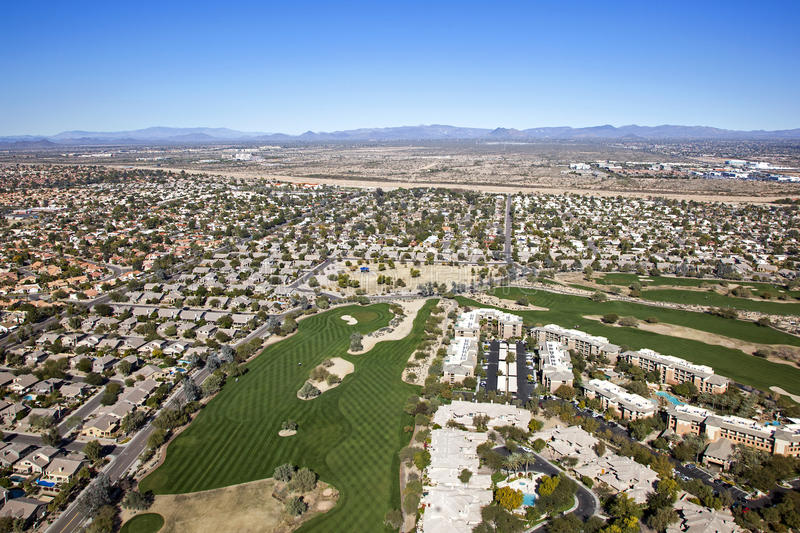 Scottsdale Golf & Condos. Golf course and vacation getaway in Scottsdale, Arizona royalty free stock photos