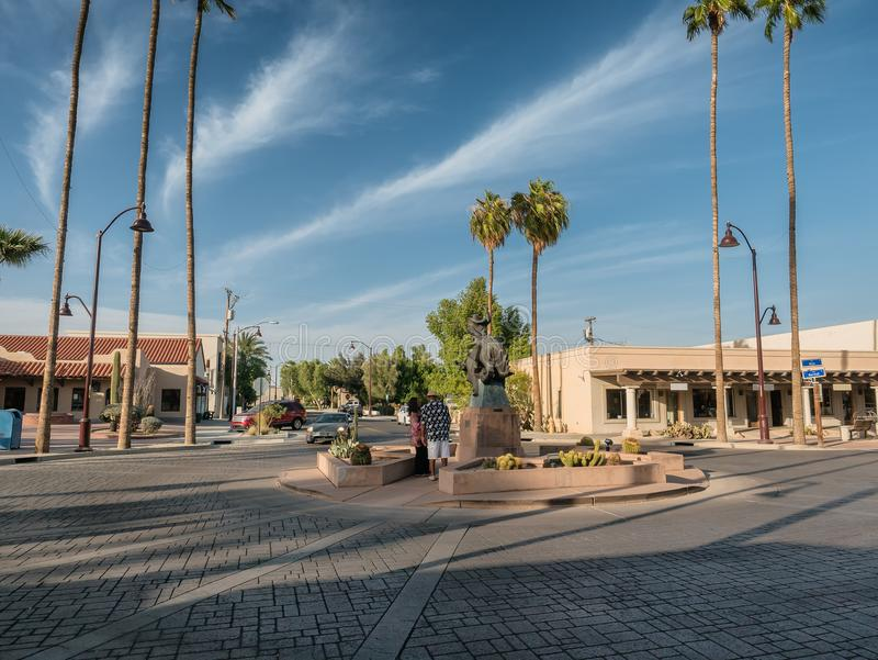 Scottsdale old town, art center, Phoenix. USA royalty free stock photography
