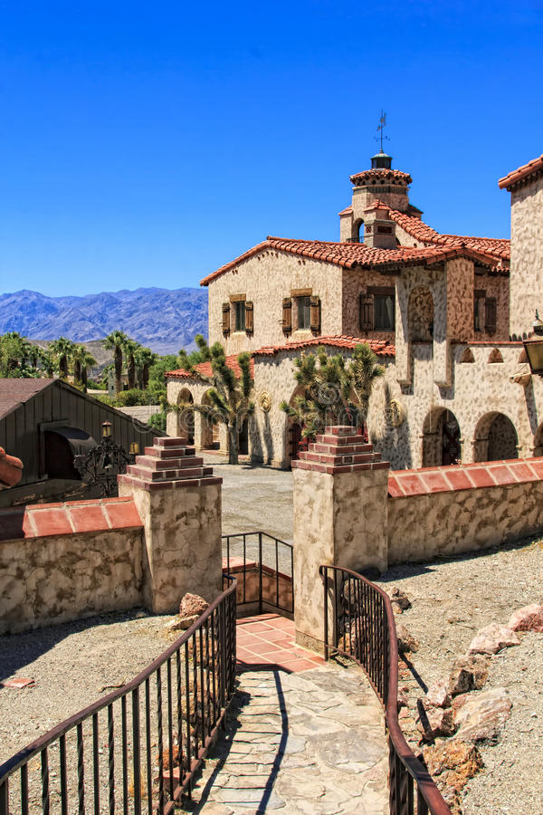 Scotty's Castle at Death Valley stock photo