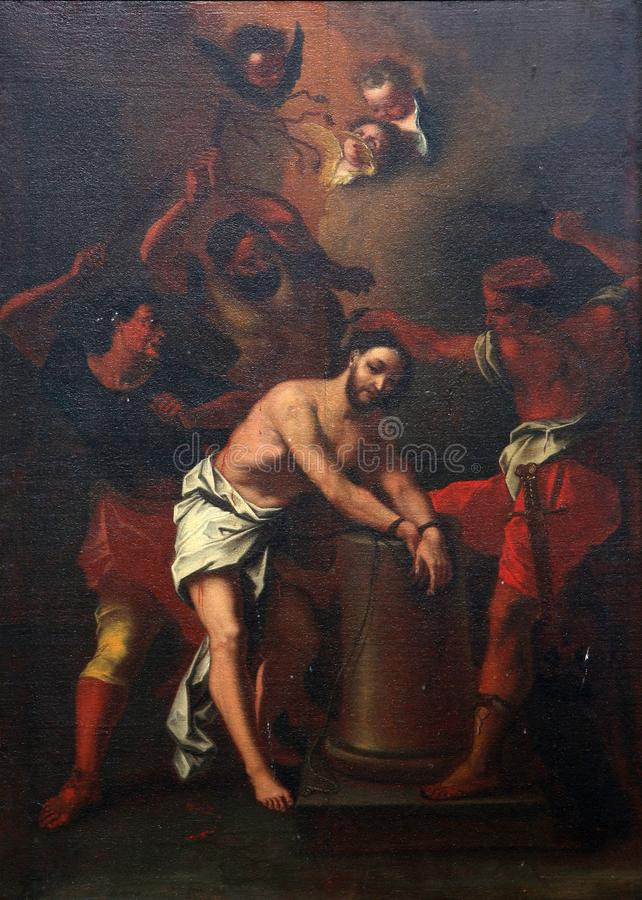 Scourging at the Pillar royalty free stock images