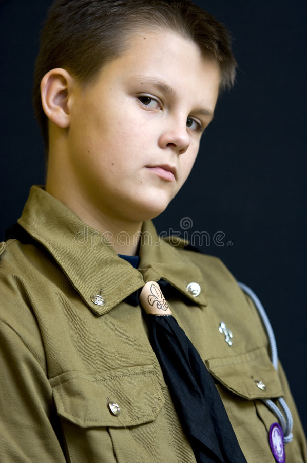 Download Scout with attitude stock photo. Image of looks, clothes - 7465898