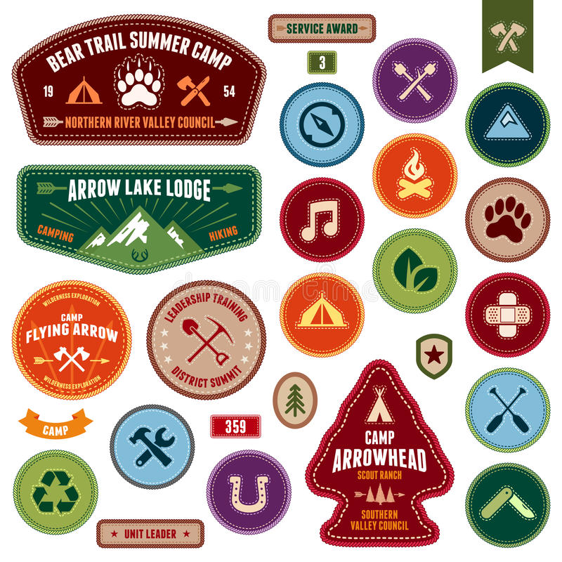 Free Scout Badges Royalty Free Stock Photo - 28982465