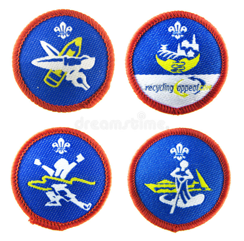 Download Scout badges set editorial stock photo. Image of artist - 21395738