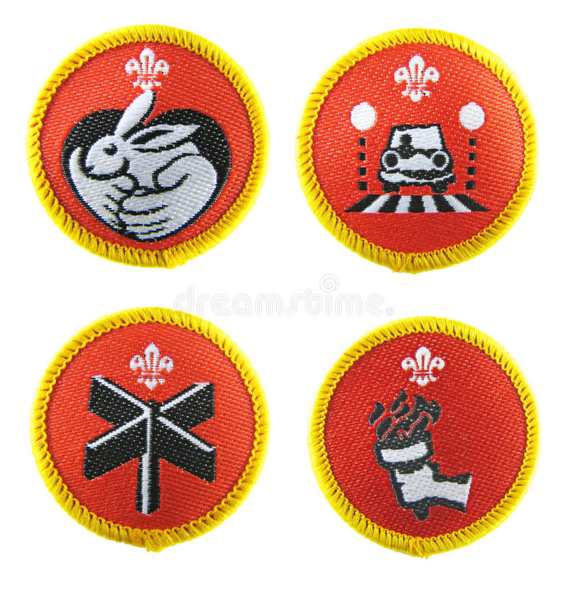 Download Scout badges set editorial image. Image of explorer, award - 21395740