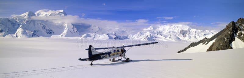 Scout bush airplane. Wrangell-St. Elias National Part, Alaska stock images