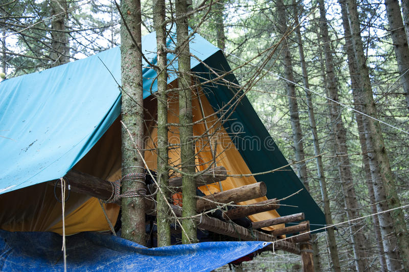 Scout Camp Royalty Free Stock Image