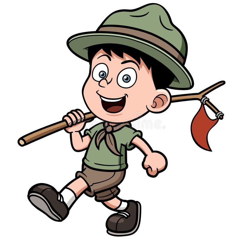 Scout de garçon illustration libre de droits