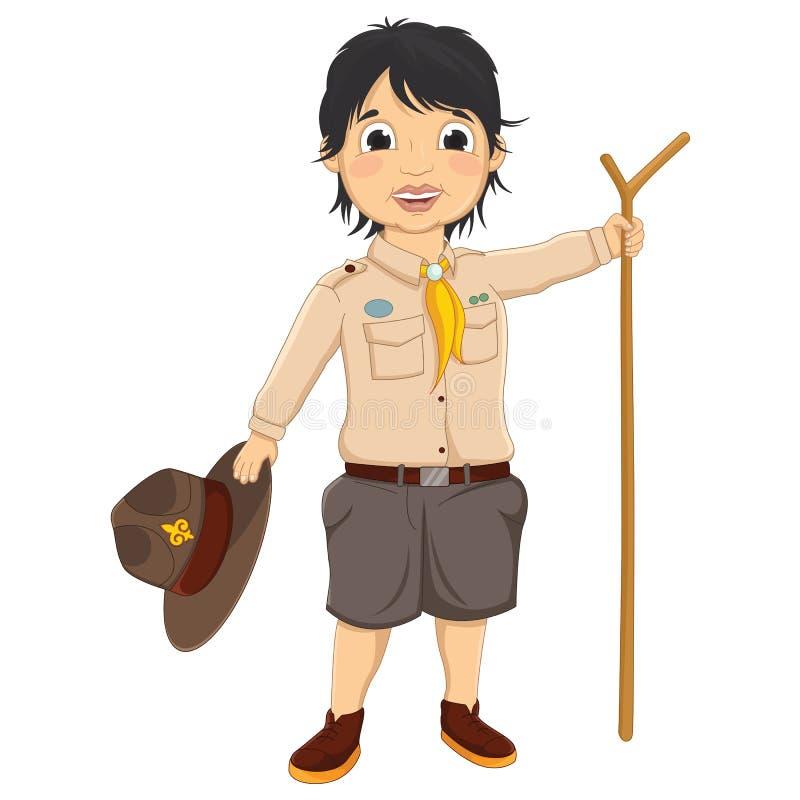 Scout de garçon Vector Illustration illustration de vecteur