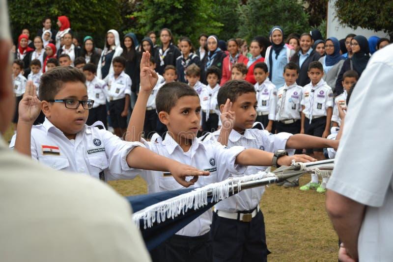 Scouts égyptiens image libre de droits