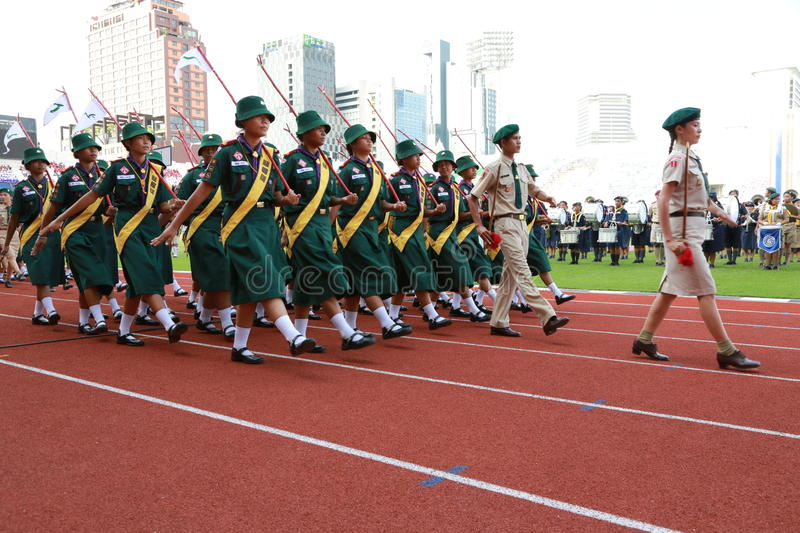 Parunchai Kochseni No.8 Scouts-annual-national-day-parade-king-thaiscout-thaiscouts-activity-boy-camp-campfire-child-childhood-children-clothes-42541682