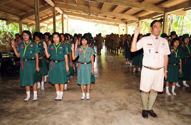 Scouts thaïlandais photographie stock
