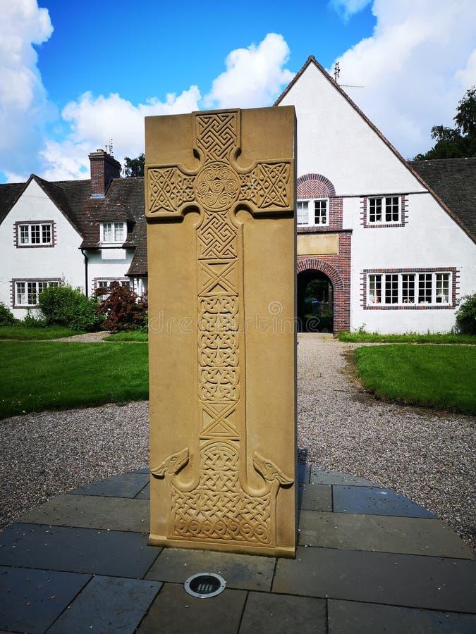Scozia: stonework celtico intagliato fotografia stock libera da diritti