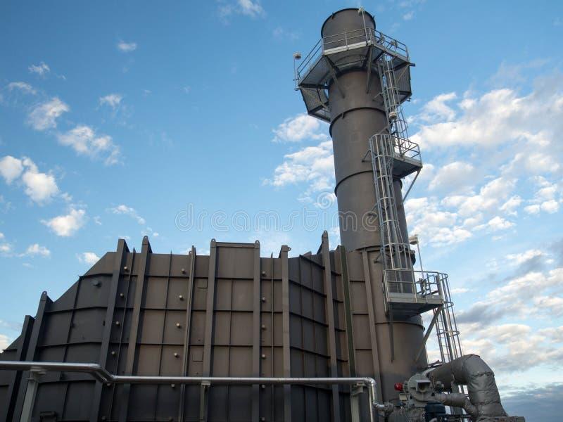 SCR газовой турбины и стог стоковое фото