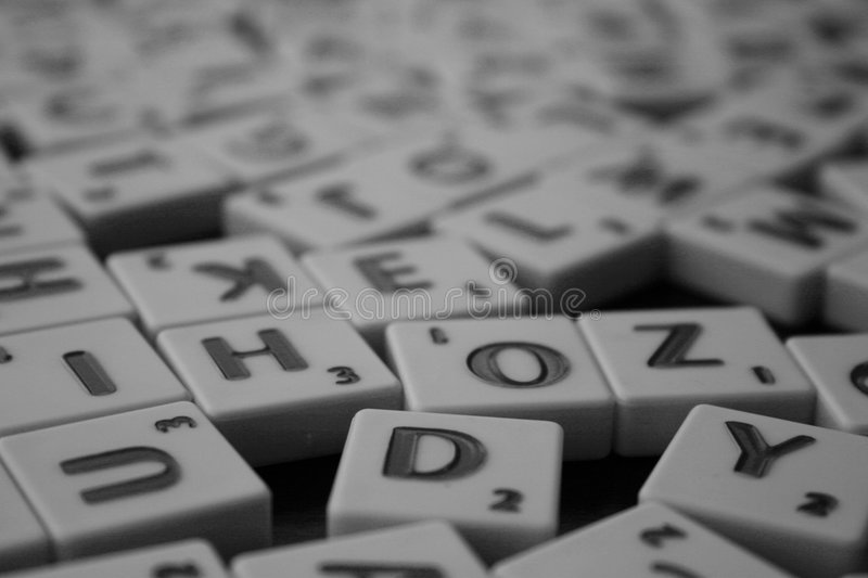 Scrabble fotografia stock