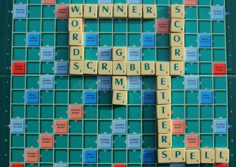 Scrabble-Brett stockfotos