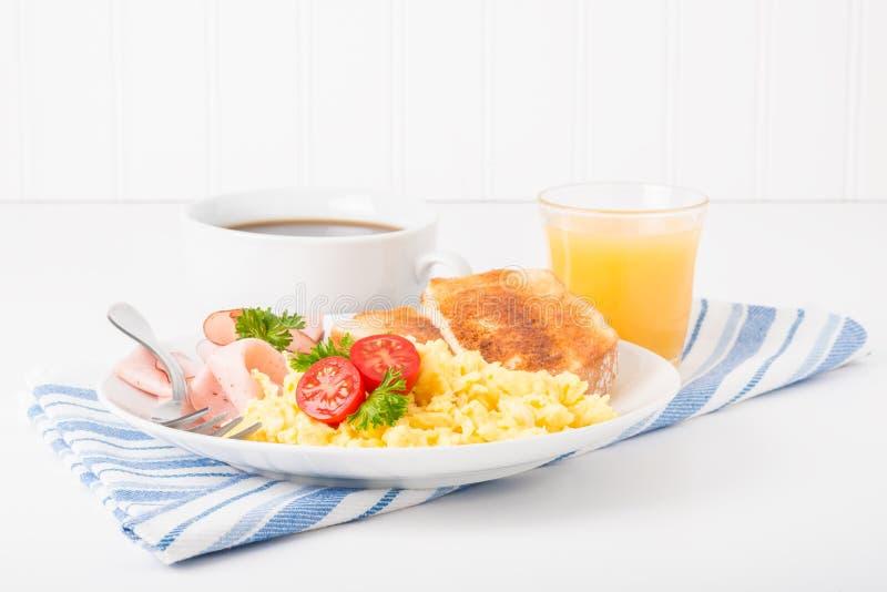 Scrambled Egg Breakfast royalty free stock photography