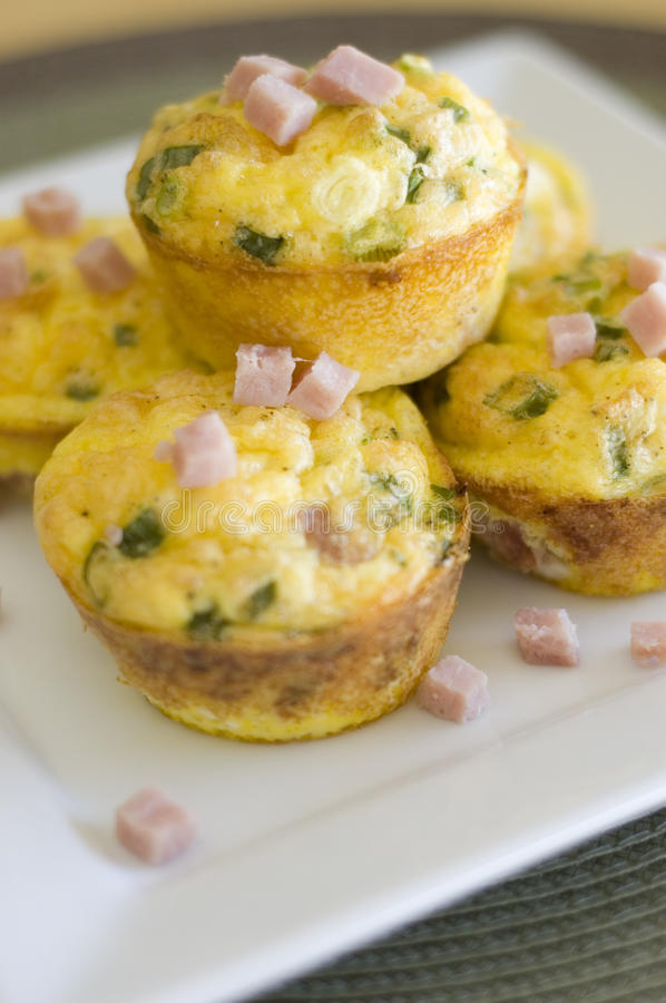 Scrambled Egg Muffins stock images