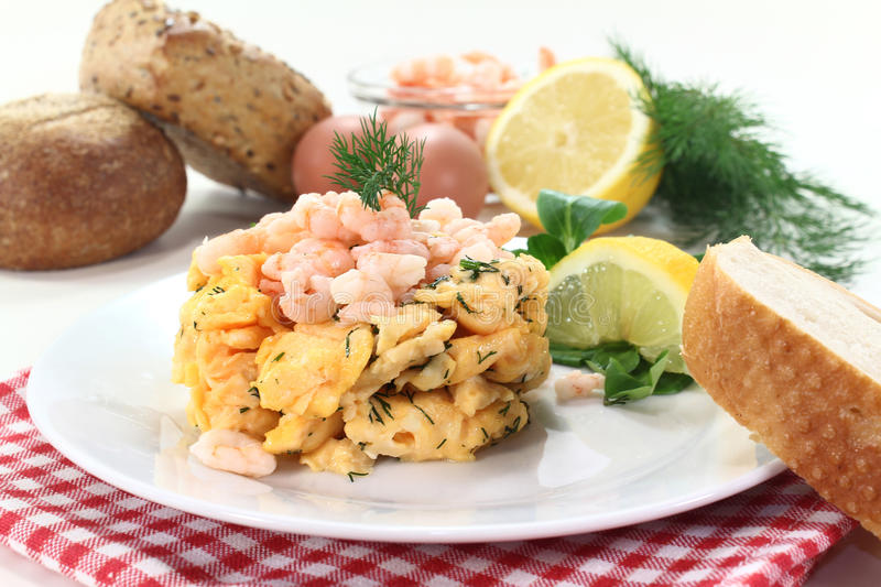 Download Scrambled Egg With Shrimp Royalty Free Stock Photos - Image: 23294498