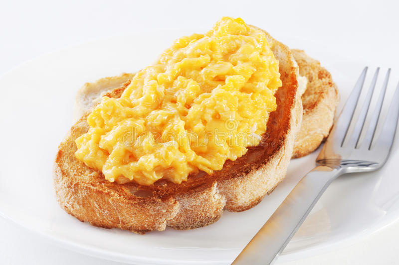 Download Scrambled Egg on Toast stock photo. Image of food, eggs - 26596006