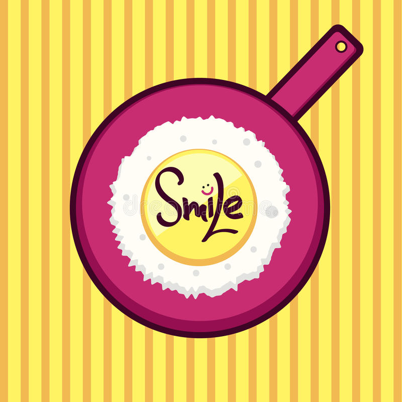 Smiley And Lettering Smile Stock Vector. Illustration Of