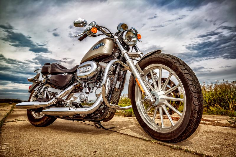 Scrambler ikona - Ducati fotografia stock