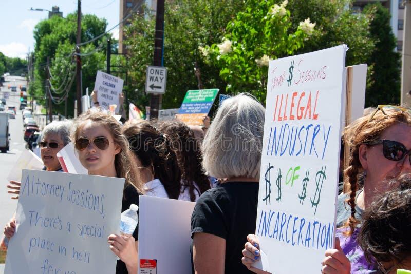Scranton, PA, protestation contre Jeff Sessions 2 photographie stock