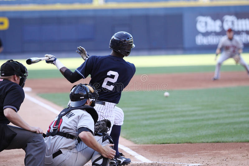 Scranton Wilkes Barre Yankees Batter Greg Golson Editorial Photography