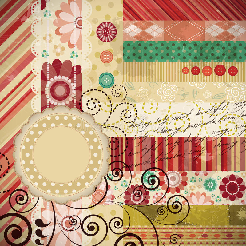 Scrap background royalty free illustration