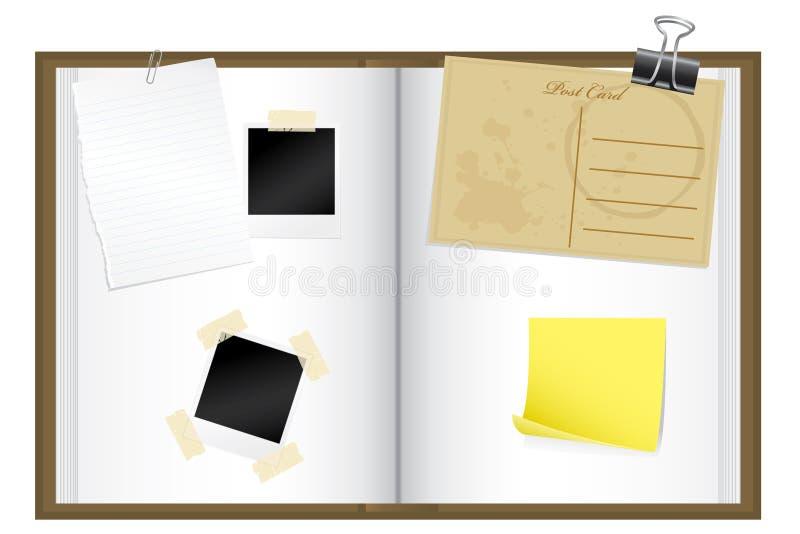 Scrap book stock illustration