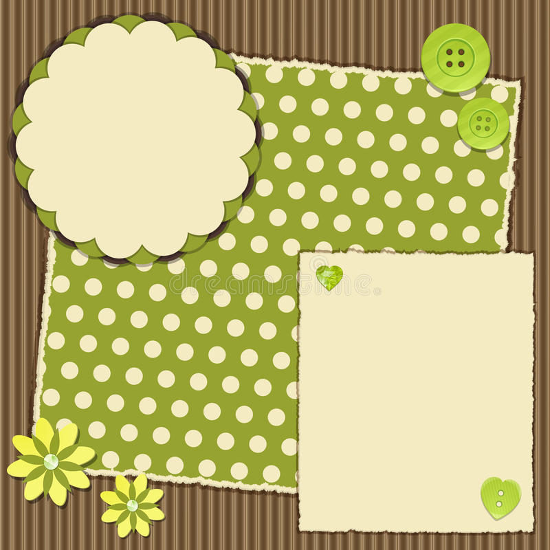 Download Scrap book layout stock vector. Image of illustration - 26520633
