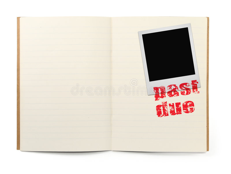 Download Scrap book with past due stock photo. Image of close, noticeboard - 4366240