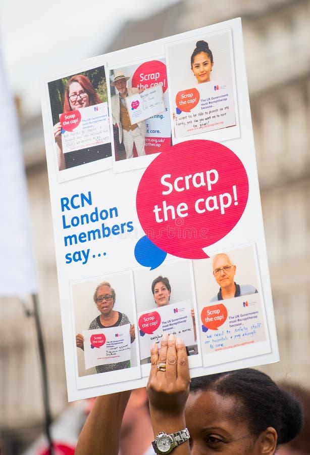 NHS - SCRAP THE CAP PROTEST stock photos